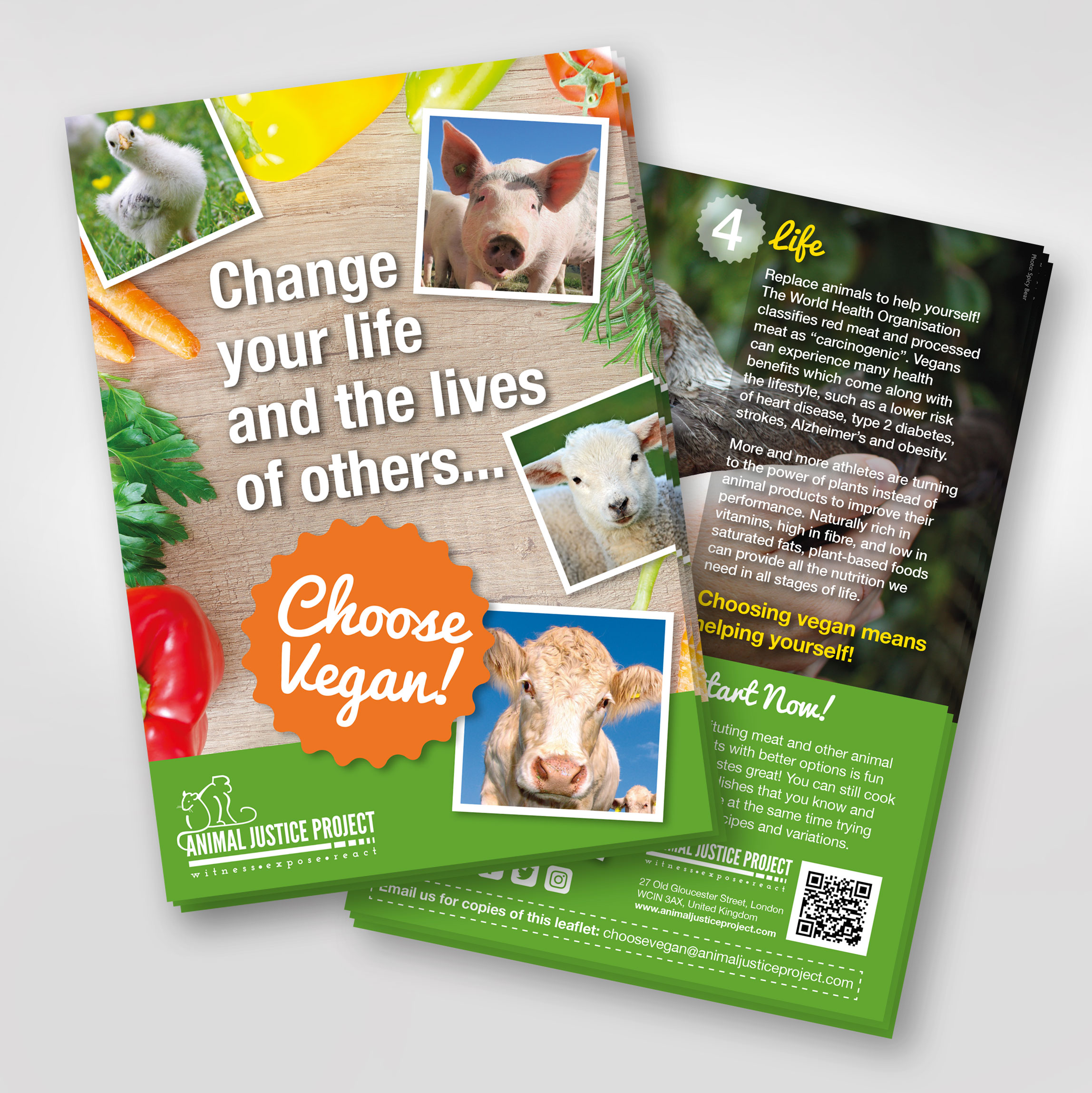 Choose vegan! Vegan outreach leaflets