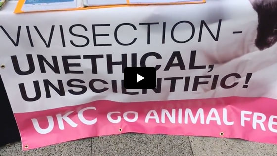 Animal Justice Project Event urging University of Kent to conduct animal-free research